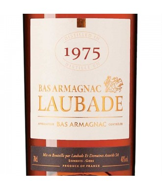 Laubade Armagnac Millésime 1975