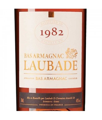Laubade Armagnac Millésime 1982