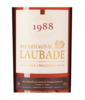 Laubade Armagnac Millésime 1988