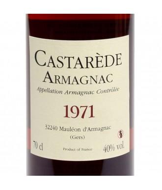 Castarède Armagnac Millésimé 1971