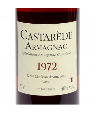 CASTARÈDE ARMAGNAC VINTAGE 1972
