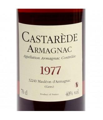 CASTARÈDE ARMAGNAC VINTAGE 1977