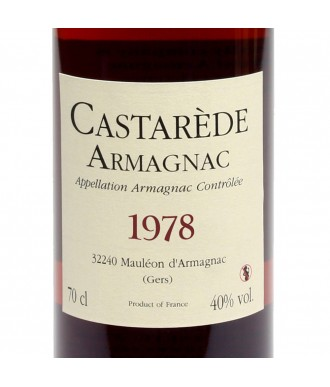 CASTARÈDE ARMAGNAC VINTAGE 1978