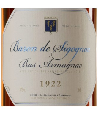 Baron De Sigognac Armagnac Millésimé 1922