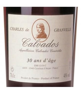 CHARLES DE GRANVILLE CALVADOS 30 YEARS