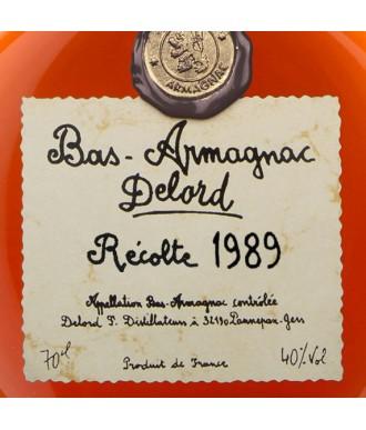 DELORD ARMAGNAC VINTAGE 1989