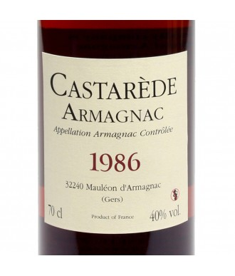 CASTARÈDE ARMAGNAC VINTAGE 1986