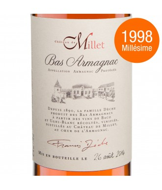 Millet Armagnac Millesime 1998
