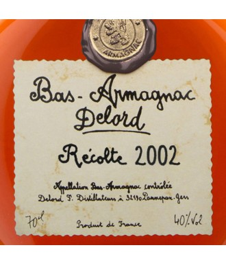 Delord Armagnac Millésime 2002