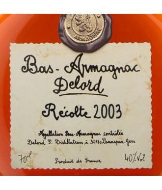 DELORD ARMAGNAC VINTAGE 2003