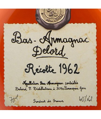 Delord Armagnac Millésime 1962