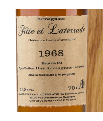 Fitte Et Laterrade Armagnac Millésime 1968