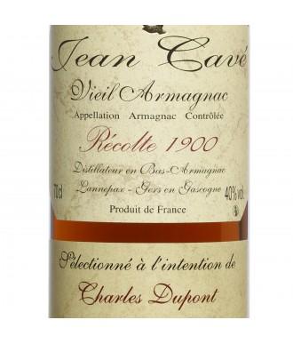 Jean Cavé Bas-Armagnac Millésimé 1900 (Rare)