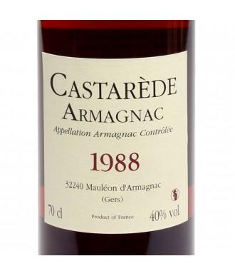 CASTARÈDE ARMAGNAC VINTAGE 1988