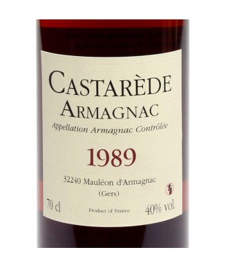 CASTARÈDE ARMAGNAC VINTAGE 1989