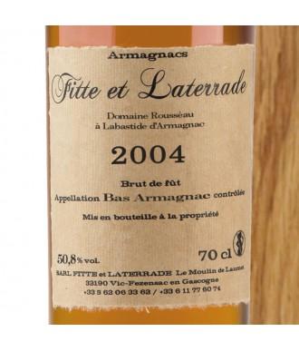 Fitte Et Laterrade Armagnac Millésime 2004