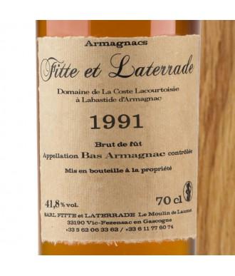 Fitte Et Laterrade Armagnac Millésime 1991