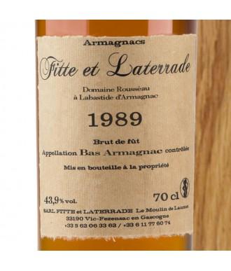 Fitte Et Laterrade Armagnac Millésime 1989