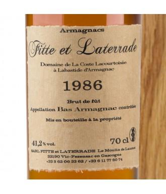 Fitte Et Laterrade Armagnac Millésime 1986
