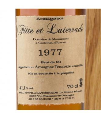 Fitte Et Laterrade Armagnac Millésime 1977