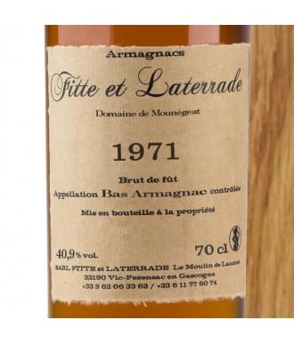 Fitte Et Laterrade Armagnac Millésime 1971