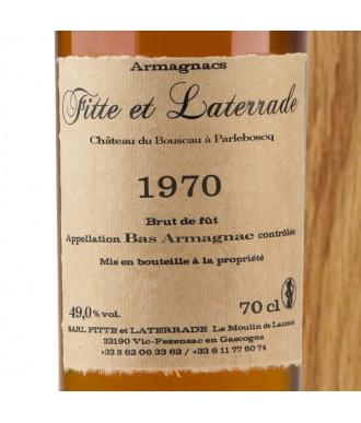 Fitte Et Laterrade Armagnac Millésime 1970