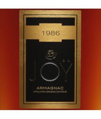 Joy Armagnac Millésime 1986