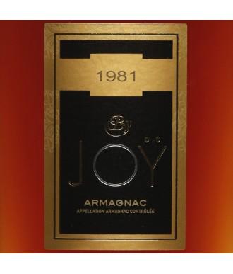 JOY ARMAGNAC VINTAGE 1981