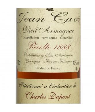 Jean Cavé Bas-Armagnac Millésimé 1888 (Rare)
