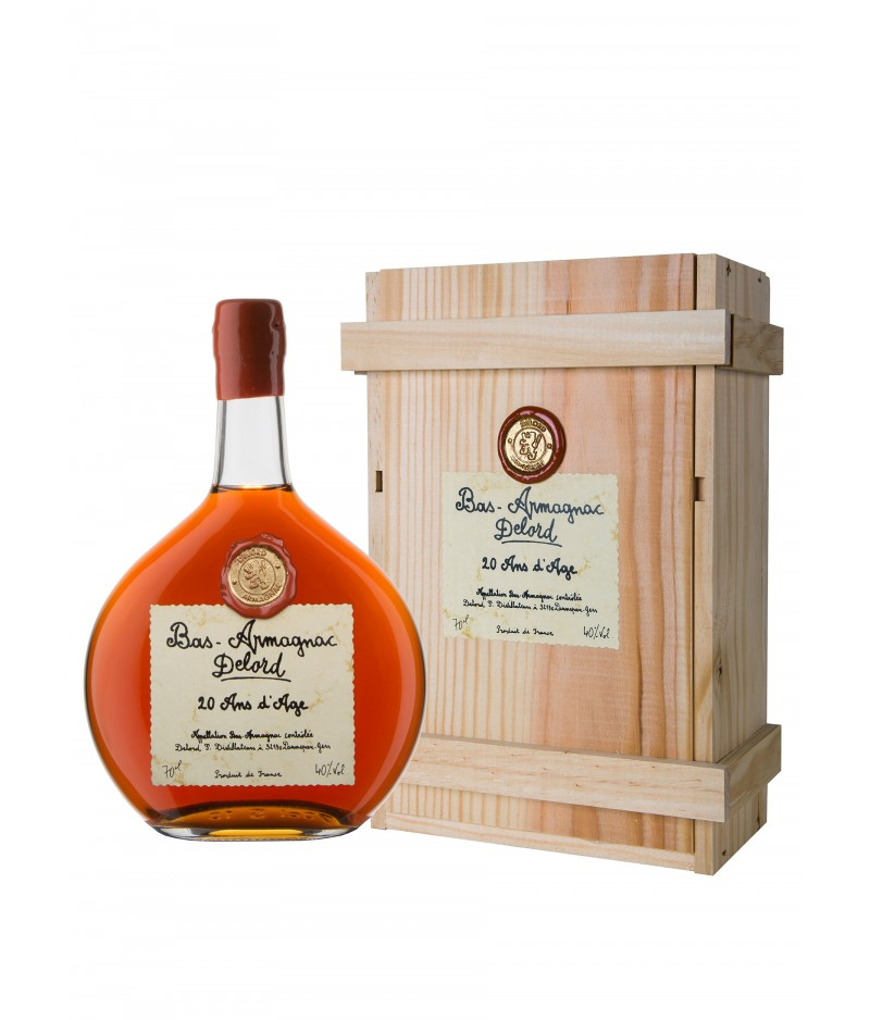 DELORD ARMAGNAC 20 YEARS D'ÂGE