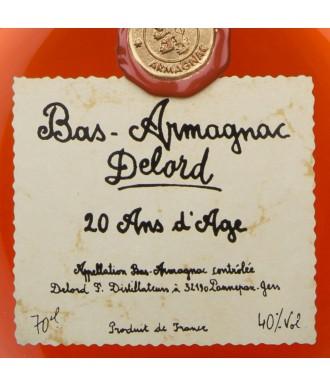 DELORD BOX 2 VERRES - ARMAGNAC 20 YEARS