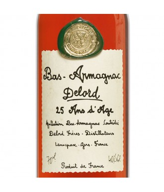 DELORD ARMAGNAC 25 YEARS D'ÂGE