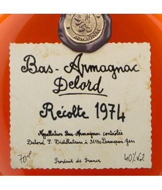 DELORD ARMAGNAC VINTAGE 1974