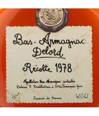 DELORD ARMAGNAC VINTAGE 1978