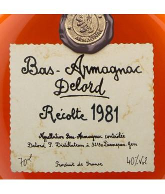 DELORD ARMAGNAC VINTAGE 1981