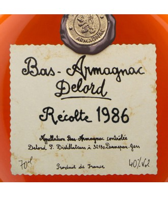 Delord Armagnac Millésime 1986