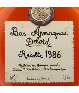 DELORD ARMAGNAC VINTAGE 1986